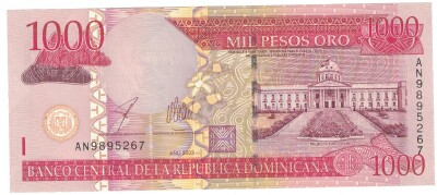 Dominican Republic # 173b 1000 pesos dominicanos 2011