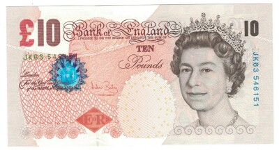 Great Britain # 389c 10 pounds