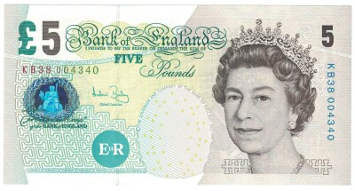 Great Britain # 391c 5 pounds