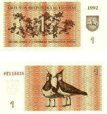 Lithuania # 39 1 talonas