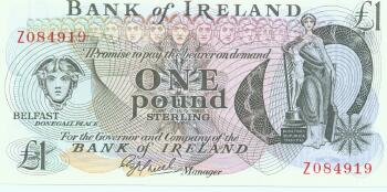 Northern Ireland # 65 1 pound REPLACEMENT NOTE