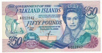 Falkland Islands # 16 50 pounds