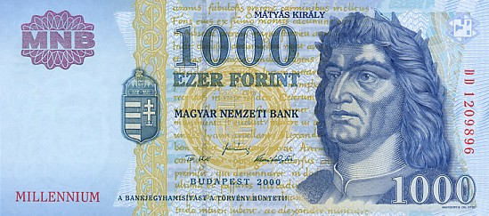 Hungary # 185 1000 forint Commemorative