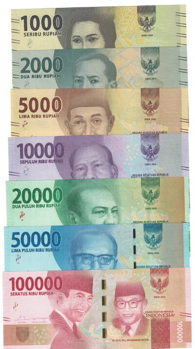 Indonesia 2016 7-Note Set 1000-10,000