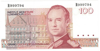 Luxembourg #58b 100 francs