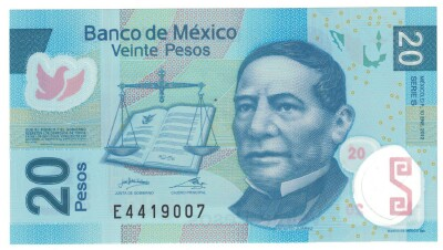 Mexico Cat # 122j 20 pesos POLYMER