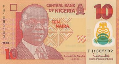 Nigeria # NEW 2018 Issue 10 naira Polymer