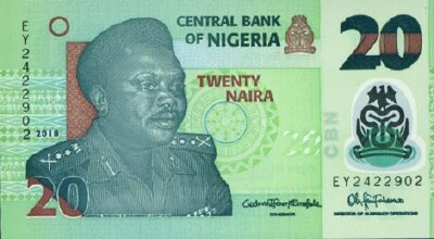 Nigeria # 34 NEW 2018 Issue 20 naira Polymer