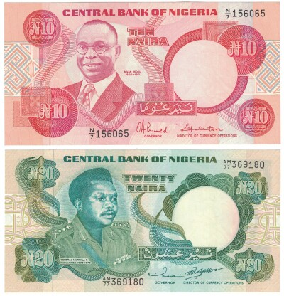 Nigeria 2 Note Set