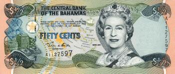 Bahamas Cat # 68 1/2 dollar