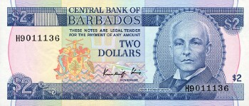 Barbados Cat # 36 2 dollars