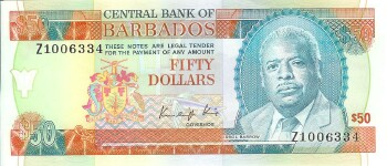 Barbados # 40r 50 dollars REPLACEMENT #334