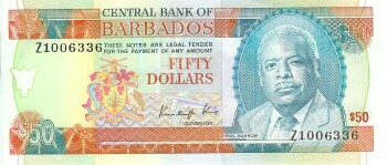 Barbados # 40r 50 dollars REPLACEMENT #336