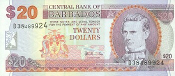 Barbados Cat # 57 20 dollars