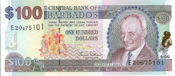 Barbados Cat # 65 100 dollars