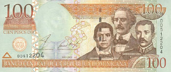 Dominican Republic # 177a 100 pesos oro