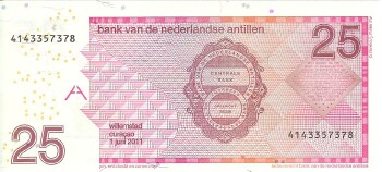 Netherlands Antilles # 29f 25 gulden