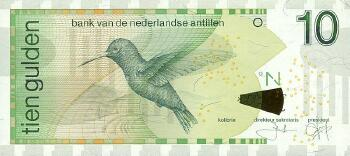Netherlands Antilles # 28c 10 gulden