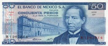Mexico Cat # 67b 50 pesos