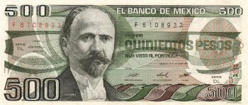 Mexico Cat # 79b 500 pesos