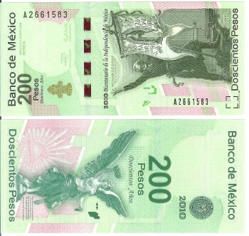 Mexico Cat # 129 200 pesos