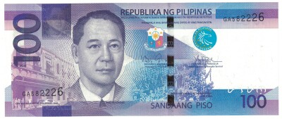 Philippines # 208a 100 piso 2010