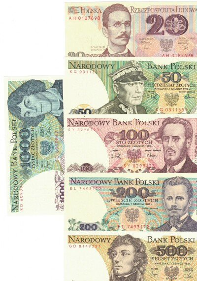 Poland 6-Note Set 20-1000