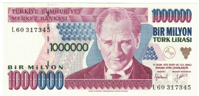 Turkey # 209 1,000,000 lira