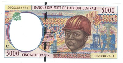 Congo Republic # 104Cf 5000 francs