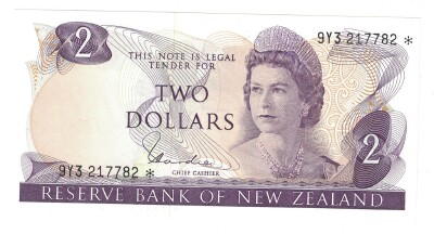 New Zealand # 164d 2 dollars REPLACEMENT
