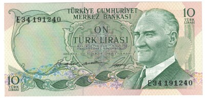Turkey # 180 10 lira