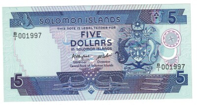 Solomon Islands Cat # 14 5 dollars
