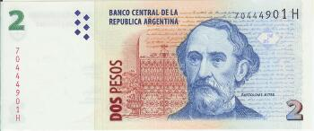 Argentina # 352 2 pesos (New Series H)