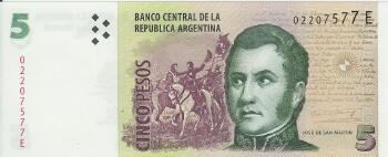 Argentina # 353 5 pesos (New Series E)