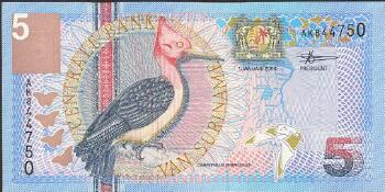 Surinam # 146 5 gulden