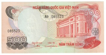 South Vietnam Cat # 28 500 dong