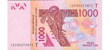 West African States (Togo) # 815Th 1000 francs