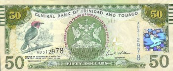 Trinidad & Tobago # 53 50 dollars Commemorative