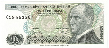 Turkey # 192 10 lira