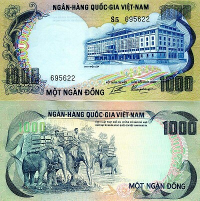 South Vietnam # 34 1000 dong