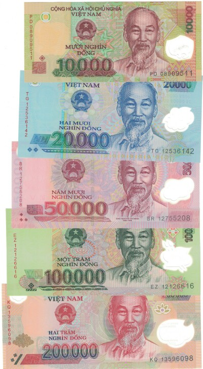 Vietnam 5-Note Set 119-123